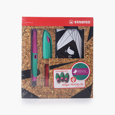 Stabilo, 'EASYbirdy' Fountain Pen Gift Set (Blue, Turquoise/ Pink Casing)