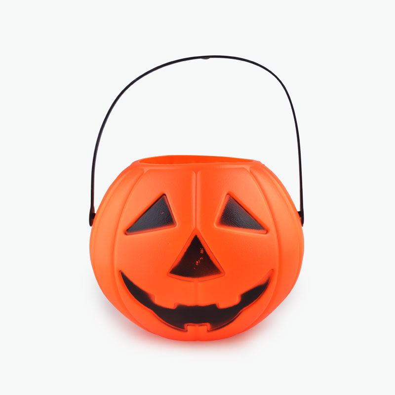 Plastic Pumpkin Bucket 15cm x1