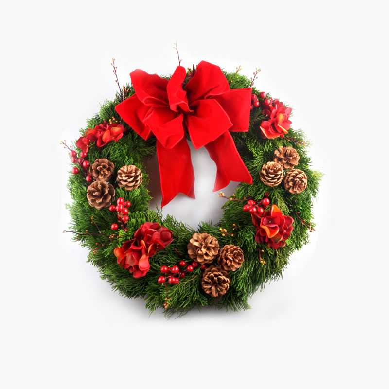 Fresh Christmas Wreath (Red) x1