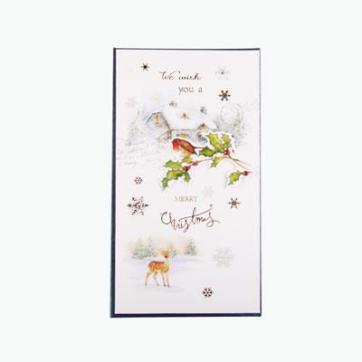 Christmas Lodge White card