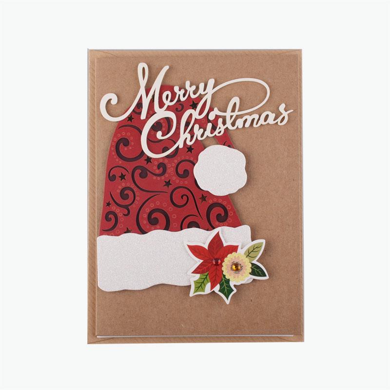 Christmas Hat Brown Card