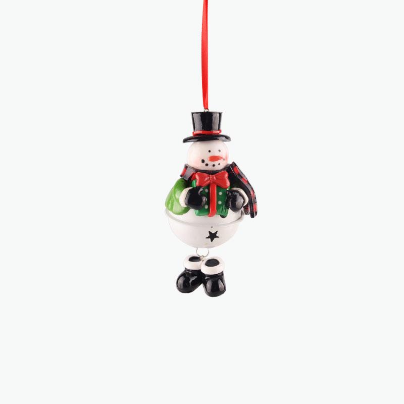 Snowman Bell Ornament 10cm
