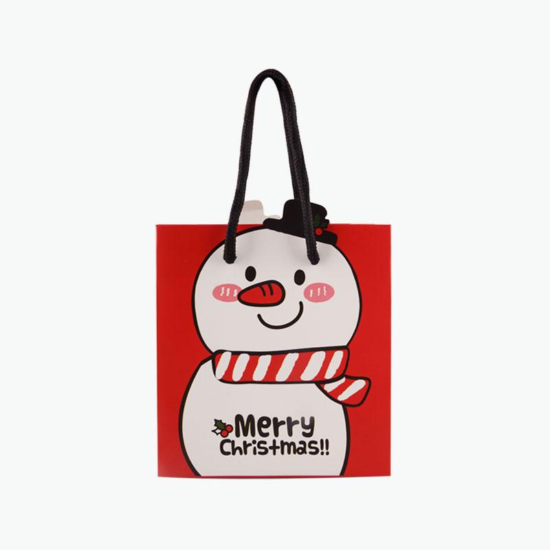 Christmas Gift Bag (Snowman, M) 20x9x19cm