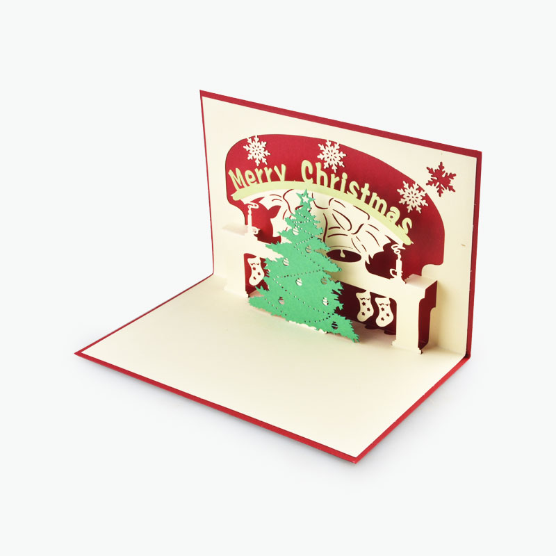 3D Christmas Card (Fireplace) 14.5x10cm x1