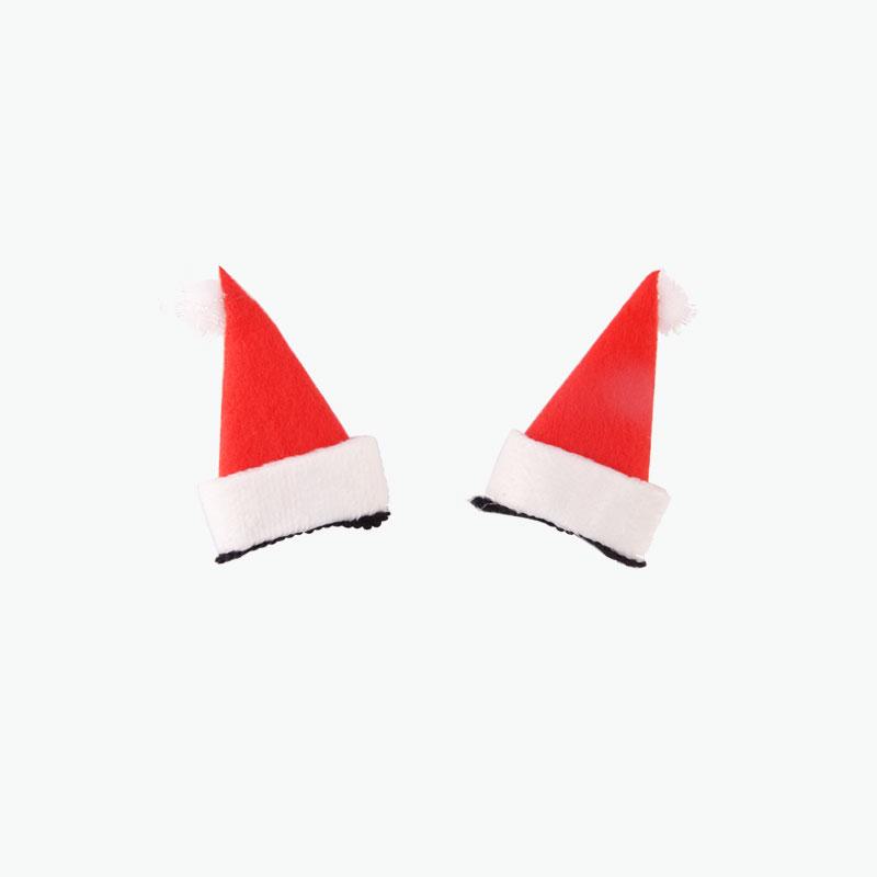 Santa Hat Hairclips x2