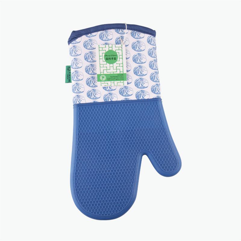 Pinyin Press, 'Baozi' Oven Gloves (Blue)