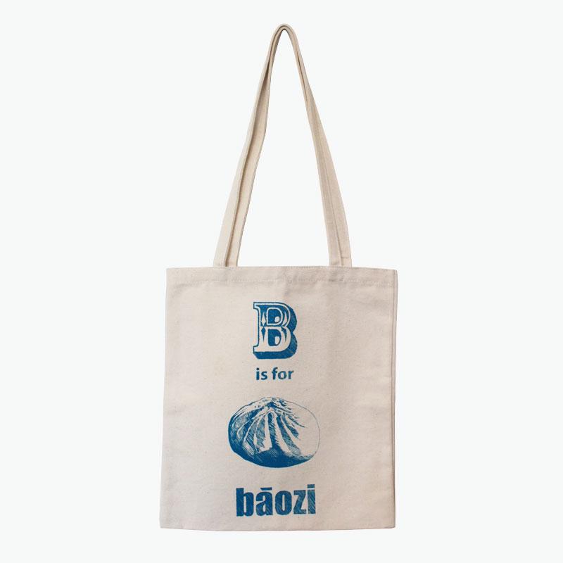 Pinyin Press, 'B is for Baozi' Canvas Bag (Blue) 35x40cm