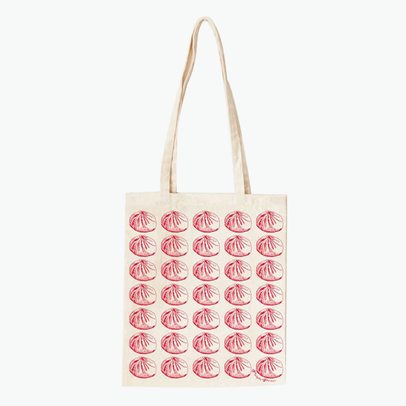 Pinyin Press, Baozi Canvas Bag (Red) 35x40cm