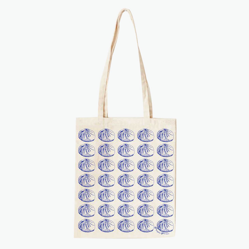 Pinyin Press, Baozi Canvas Bag (Blue) 35x40cm
