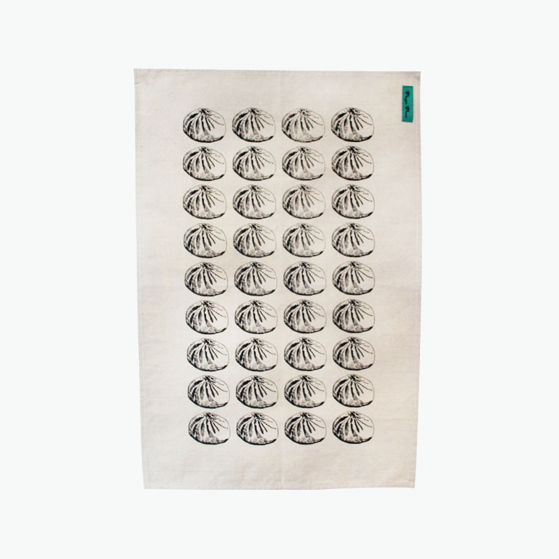 Pinyin Press, Baozi Tea Towel (Black) 45x70cm