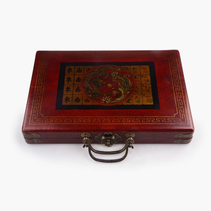 Ornamental Hand-Carved Mahjong Set