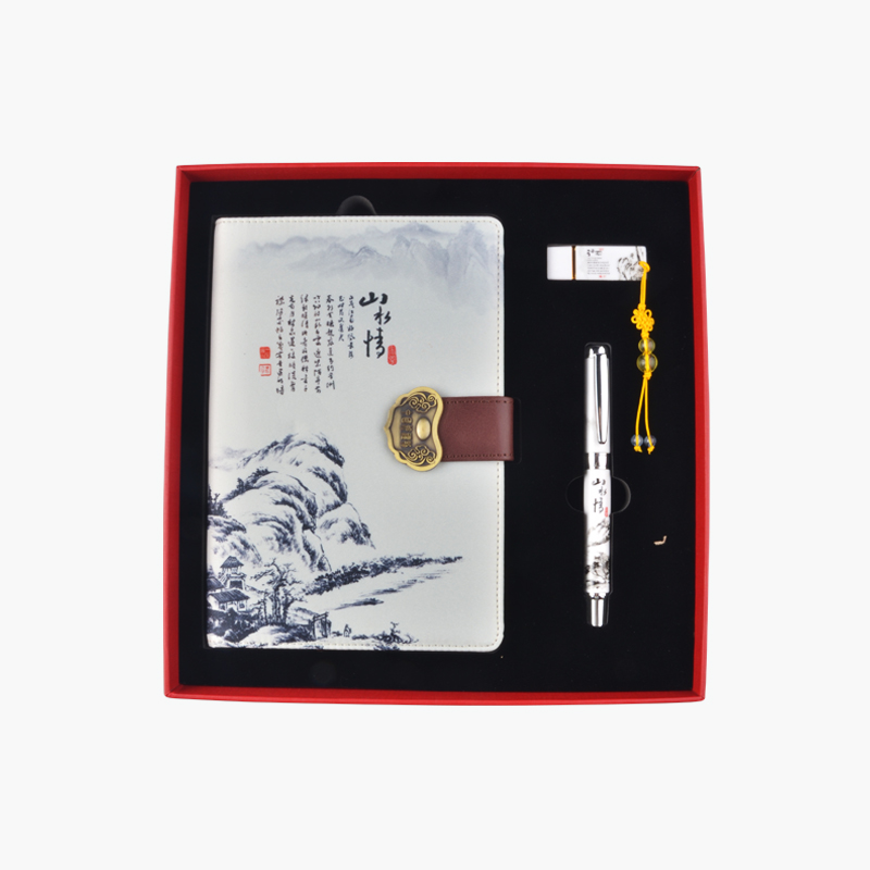 A Gift of China, Landscape Notebook, Pen, & USB Memory Stick Gift Set