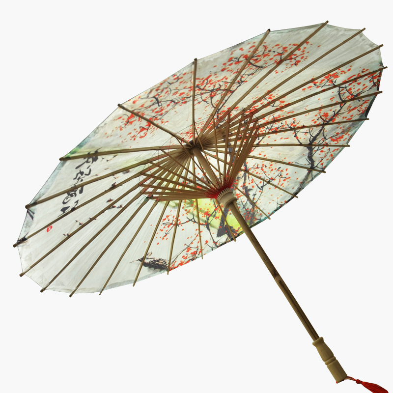 Hand-Painted Decorative Paper Umbrella 84cm