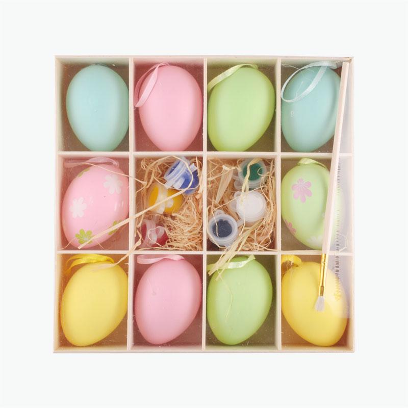 Wooden Easter Egg DIY Painting Kit