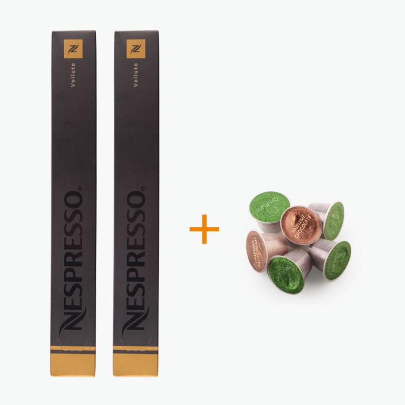 Nespresso, VOLLUTO Capsules x20 +  Free Podista Sample x6