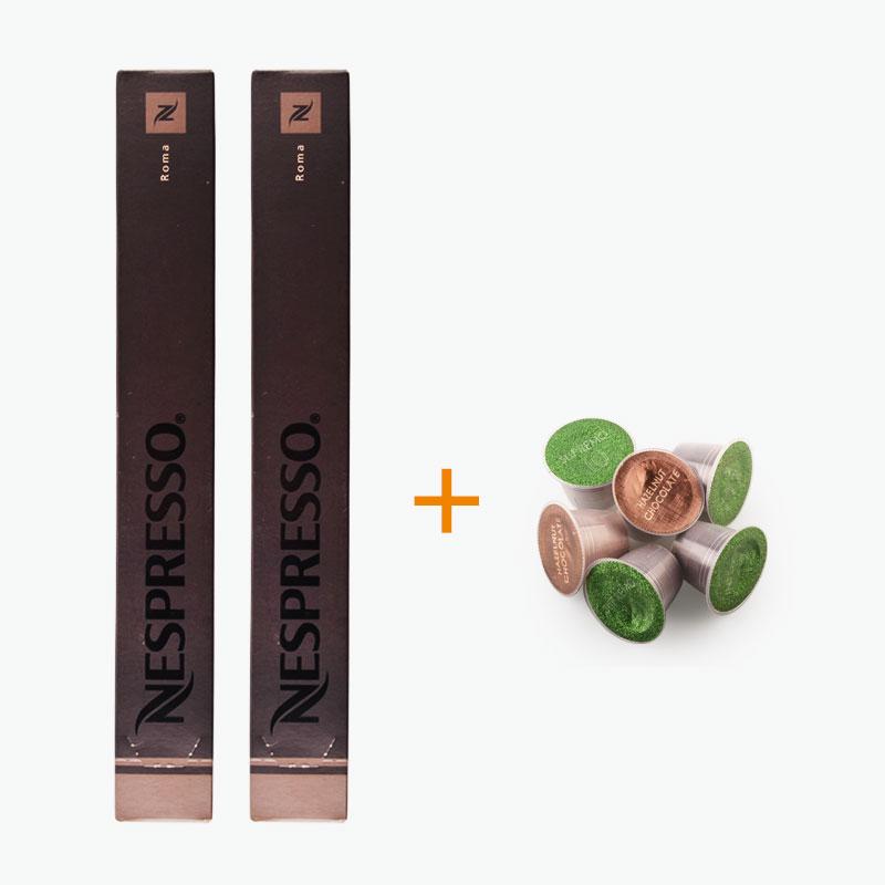 Nespresso, ROMA Capsules x20 + Free Podista Sample x6