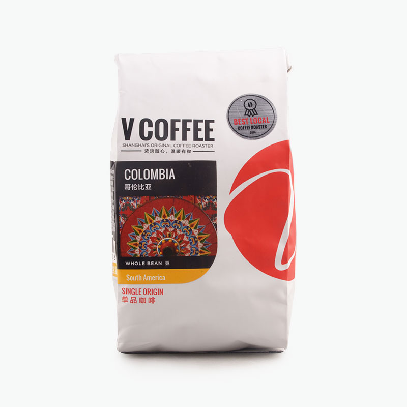 V COFFEE, COLOMBIA SUPREMO Coffee Beans 250g