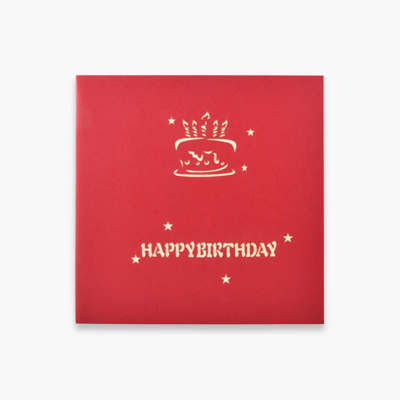 3D Birthday Card (Red Cake) x1