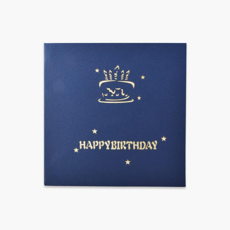 3D Birthday Card (Blue Cake) x1