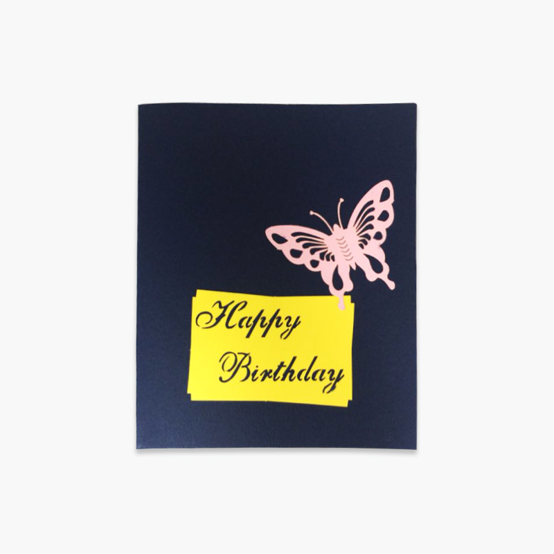 3D Birthday Card (Blue Butterfly) x1
